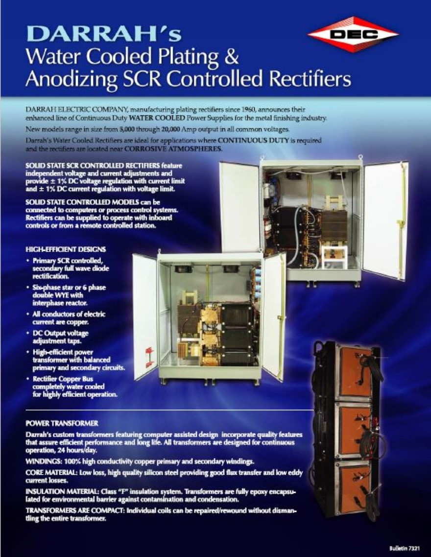 Information Center Scr Circuits Applications Water Cooled Controlled Rectifiers